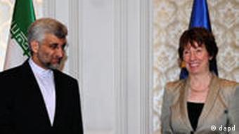 آخرین دیدار کاترین آشتون و سعید جلیلی در ژانویه ۲۰۱۱ در استانبول