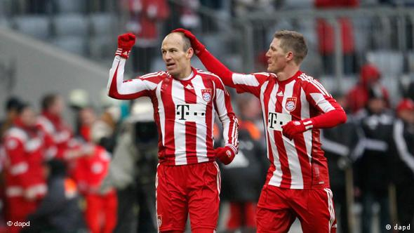 Kolege i (ne)prijatelji: Robben (lijevo) i Schweinsteiger
