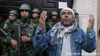 police, protester