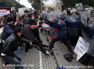 Violent protests in Tirana