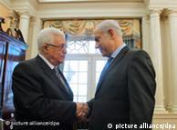 Mahmoud Abbas e Benjamin Netanyahu em Washington, em 2010