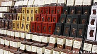 Chocolate display at International Green Week Berlin 2011