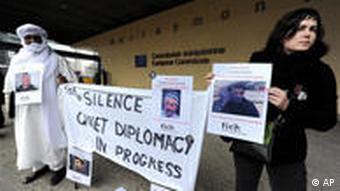 Proteste in Brüssel gegen den Besuch des usbekischen Präsidenten