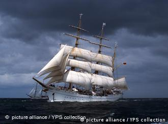 The Gorch Fock in stormy weather