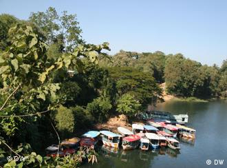 Kaptai Lake of Bangladesh, one and the bigest man made lake in Bangladesh. Located in Rangamati hill district. Kaptai Lake is a man-made lake in south-eastern Bangladesh. It is located in the Kaptai Upazila of Rangamati District of Chittagong Division. The lake was created as a result of building the Kaptai Dam on the Karnaphuli River, as part of the Karnaphuli Hydro-electric project. The Kaptai Lake's average depth is 100 feet (30 m) and maximum depth is 495 feet (151 m).