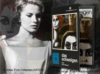 Szene aus dem Film Das Schweigen kombiniert mit der DVD (Atlas Film/Kinowelt)