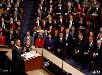President Barack Obama during his State of Union adress in Washington