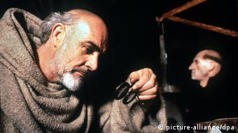 A still from the film The Name of the Rose, starring Sean Connery