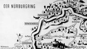 An old map of the Nürburgring Nordschleife