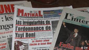 Benin Cotonou Presse Zeitungen