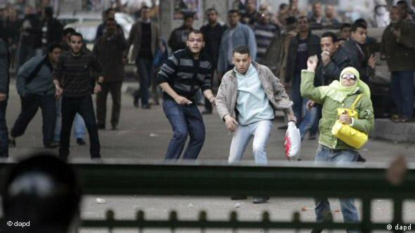 Flash Proteste in Ägypten gegen Mubarak Regime