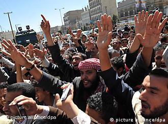 تظاهرات معترضان در صنعا، پایتخت یمن