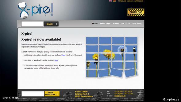 Screenshot Website X-Pire xpire.de xpire