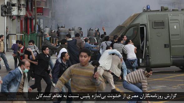 Politische Unruhen in Ägypten Persisch