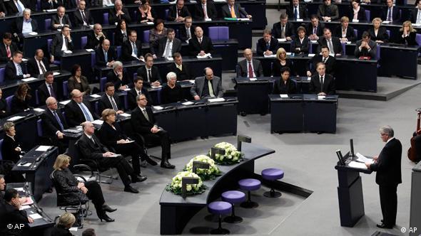 Zoni Vejs govori pred Bundestagom 2011.