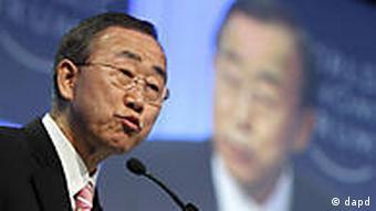 Schweiz Wirtschaft Weltwirtschaftsforum in Davos UN Ban Ki mmoon
