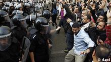 Ägypten Proteste in Kairo Demonstranten und Polizei