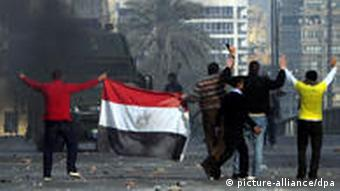 The unrest in Egypt toppled the government