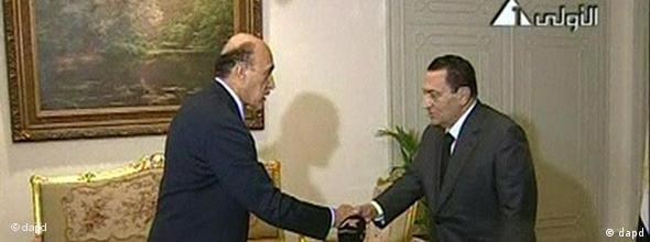 Mubarak (re) ernennt Suleiman Ende Januar zum Vizepräsidenten (Foto:AP)