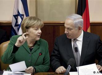 Chancellor Merkel and Israeli Premier Netanyahu in Jerusalem