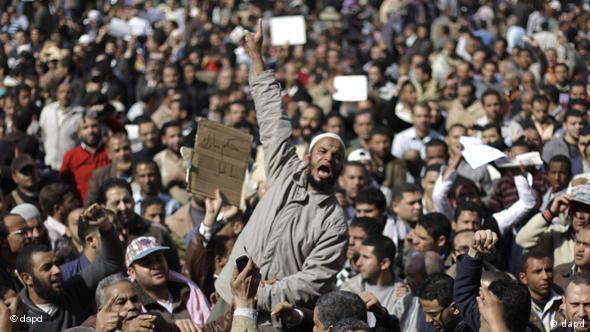 Entwicklung der Unruhen in Ägypten Flash-Galerie