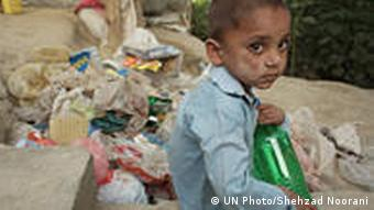 Young Afghan Children Collect Waste