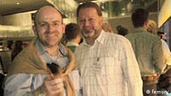 Co-founder Christian Kutschka (left) with Christian Leeb from the German Seed Fund
