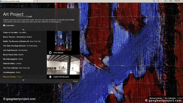 Flash-Galerie Screenshot Google Art Project