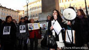 Protest calling for Berlusconi's resignation