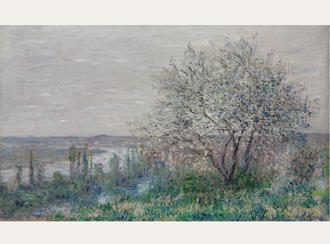 Spring mood in Vetheuil (1880) by Claude Monet