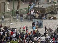 میدان تحریر: مخالفان و موافقان مبارک رو در روی هم