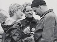 اینگمار برگمن (راست) در سال ۱۹۶۷