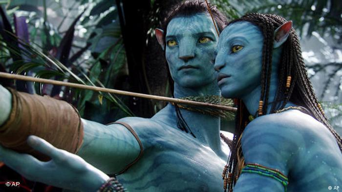 Avatar characters voiced by Sam Worthington and Zoe Saldana (AP)