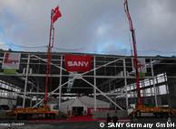 Die Baustelle der Produktionsstätte in Bedburg von Sany Germany (Foto: Sany Germany GmbH)
