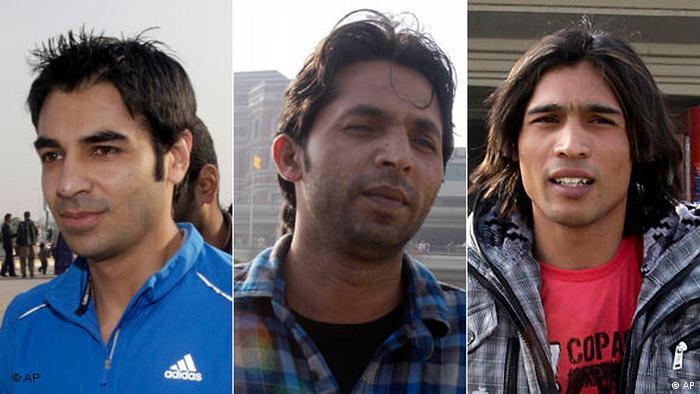 Kombo Pakistan Cricket Korruption Salman Butt Mohammad Asif und Mohammad Amir (AP)