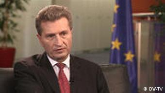 04.02.2011 DW-TV Journal Interview Günther Oettinger