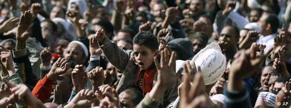 تظاهرات معترضان در قاهره