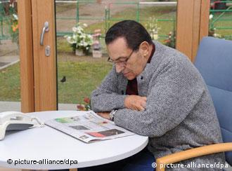 Mubarak im März 2010 in der Uniklinik Heidelberg (Foto:dpa)