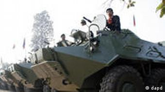Cambodian armed vehicles were deployed in the four days of clashes