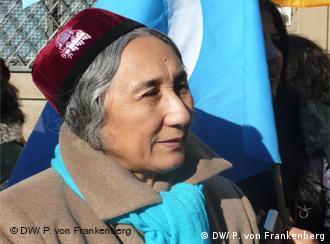 Rebiya Kadeer, the exiled leader of the World Uyghur Congress during a visit to Munich (Photo: DW/Patrick von Frankenberg)