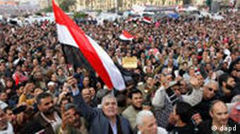 Thousands of protesters on Tahrir Square