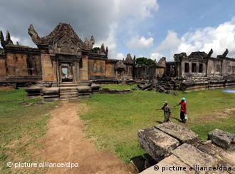 At the Preah Vihear temple, the situation has calmed for now after four days of clashes in jungles around the temple
