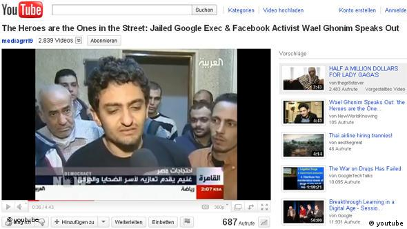 Wael Ghonim Screenshot youtube Flash-Galerie