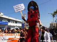 Teilnehmer des Weltsozialforums protestieren gegen die EU-Agentur Frontex (Bild: Renate Krieger)