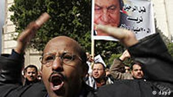 A protester shouting in Cairo