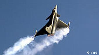 A Eurofighter jet shows off at Aero India