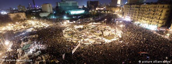 Tahrir Square on the night of February 10