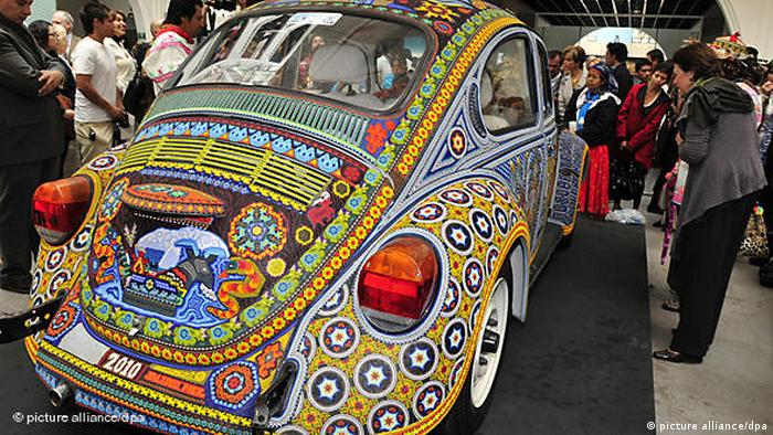 Un escarabajo de Volkswagen.