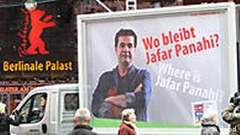 Deutschland Berlin Kultur Film Berlinale 2011 Demonstration für Jafar Panahi