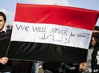 Jovens egípcios tomaram a frente em prol de mudanças